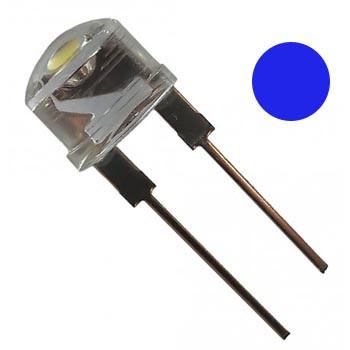Яркий светодиод 8 мм синий