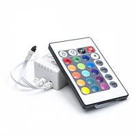 Контроллер RGB 6А IR инфракрасный 12V (ДУ 24 кнопки)