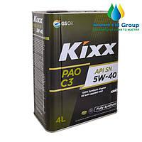 Моторное масло KIXX PAO 5W-40 4л (API SN/CF/С3)