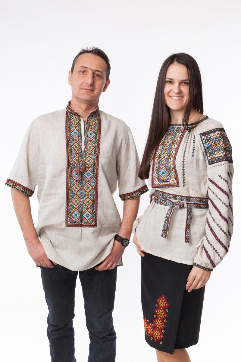 Чоловіча вишиванка Купало льон - Podolyanka в Львове