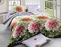 Комплект постельного белья семейный, полиэстер. Постільна білизна. (арт.7590)