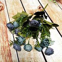 Букет роз шебби-шик синий
