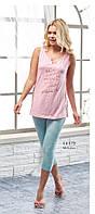 Костюм двойка женский летний футболка, капри Relax mode.
