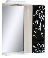 Зеркало для ванной 60-01 правое Бело-черная ромашка