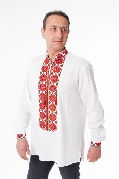 Чоловіча вишиванка Покуття біла - Podolyanka в Львове 64aeb31f094e1
