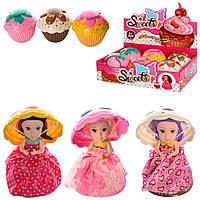Кукла капкейк Cupcake Sweet S59: 3 вида, размер 14см