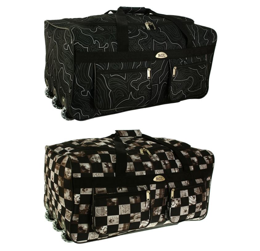 Дорожные сумки с железными колесами империя сумок чемоданы