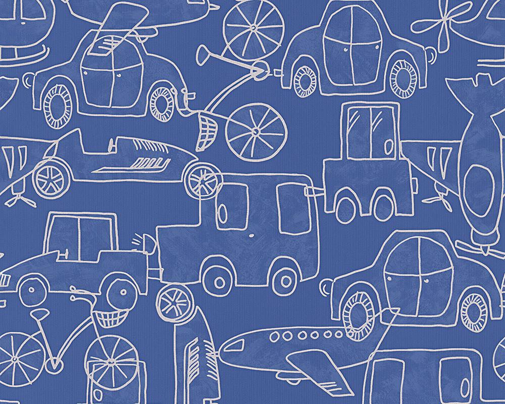 Плотные и прочные фактурные обои, яркие, в детскую комнату мальчика, бумажные 304491