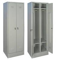 Шкаф для одежды металический1800х600х500 ШОМ 300/2