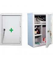 Аптечный шкаф металлический (Аптечка медицинская)  300х160х390 мм