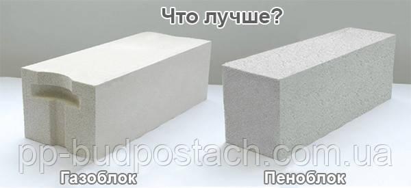 Види пористих бетонів піноблоки і газобетон