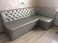 Мягкая мебель со спальным местом в кухню (Серебро)
