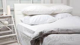 Белое постельное белье однотонное Simple White (ранфорс, 100% хлопок)