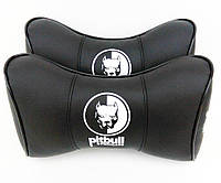 Автомобильные подушки на подголовники PITBULL  черный цвет