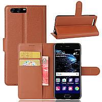 Чехол Huawei P10 / VTR-L09 / VTR-L29 книжка PU-Кожа коричневый, фото 1