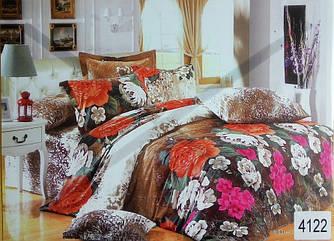 Сатиновое постельное белье евро ELWAY 4122