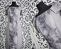 """Классическое женское платье ткань """"Костюмная + шифон""""  44, 46 размер норма"""