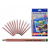Карандаши цветные 12цветов цветные карандаши(древесина,цветной грифель)