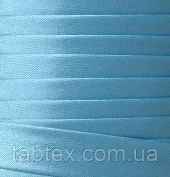 """Бейка косая """"Kotex""""№8068 голубой атласная 110 ярд. (100,60 м)"""