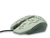 Мышь проводная, USB, TRY MOUSE GLOW, 3200 dpi, белая, гарантия 6 мес