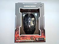 Мышь проводная, USB, TRY MOUSE GLOW, 3200 dpi, черная, гарантия 6 мес