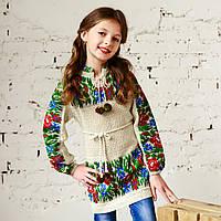 Детская платье с вышивкой, 100% лен, фото 1
