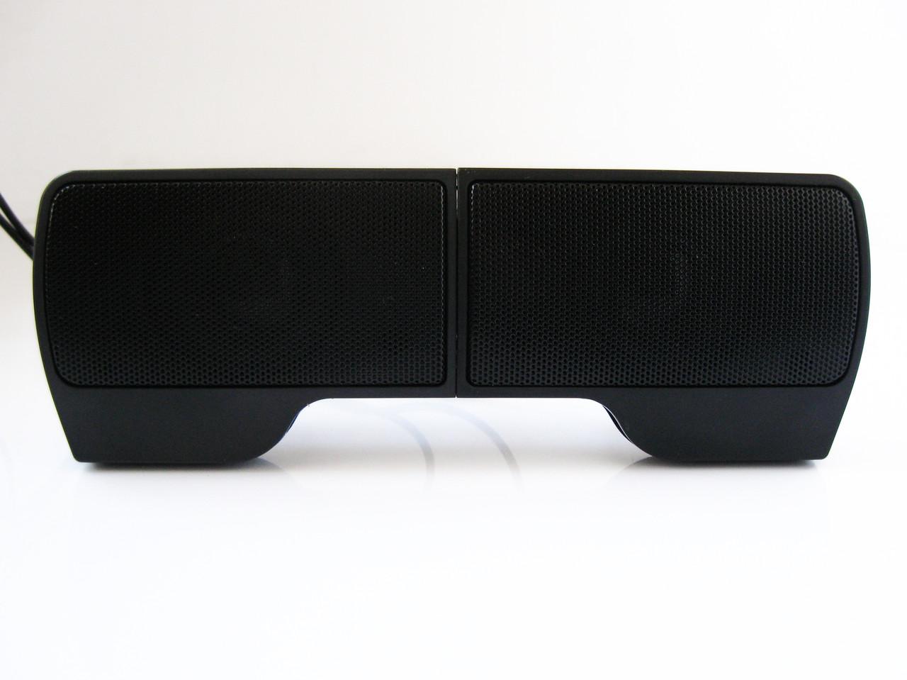 Компьютерные колонки 2.0, USB, 6 Вт, TRY SOUND CLIP, крепление на крышку ноутбука, черные, гарантия 12 мес