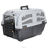 Переноска MPS SKUDO-2 IATA GREY для собак и кошек 55*36*35см, до 18кг