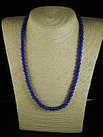 Бусы из  синего прессованного агата,шар 6мм, фото 1