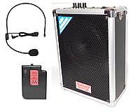Колонка с беспроводным микрофоном на голову 608T (Аккумулятор/USB)