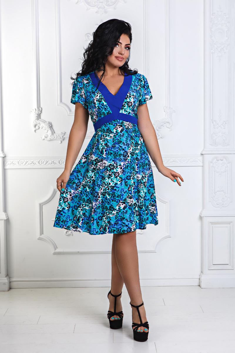 Д1275/2 Платье летнее  размеры 50-56