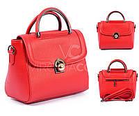 Красная кожаная сумка VirginiaConti