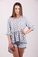Блуза-туника с удлиненной спинкой