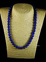 Бусы из  синего прессованного агата,шар 10мм, фото 1