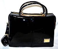 Женская сумка класса Люкс в лаке 32*21 (черный)