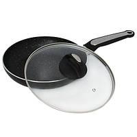 Сковорода Kamille 26см с мраморным покрытием и крышкой
