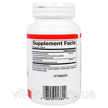 Natural Factors, Цитрусовые биофлавоноиды, 650 мг, 90 капсул, фото 2