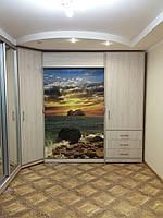 Шкаф кровать фасад УФ печать