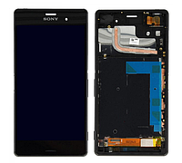 Дисплей (модуль) +тачскрин (сенсор) с рамкой для Sony Xperia Z3 D6603 D6616 D6633 D6643 D6653 L55t L55u черный