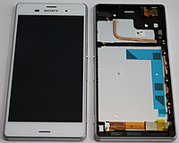 Дисплей (модуль) + тачскрин (сенсор) с рамкой для Sony Xperia Z3 D6603 D6616 D6633 D6643 D6653 L55t L55u белый