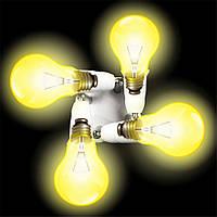 Патрон - разветвитель для 4 лампочек