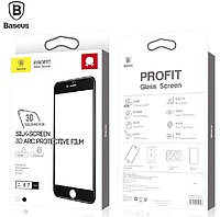 Стекло Baseus Silk-screen 3D Arc Protective Film For iPhone6 Plus Black, фото 1