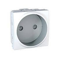 Розетка без заземления с шторками Schneider Electric Unica Белая (mgu3.033.18)