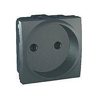 Розетка без заземления с шторками Schneider Electric Unica Графит (mgu3.033.12)