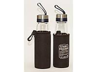 Бутылка для питья стеклянная в чехле T92-5 4