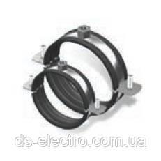 Хомут стальной с резиновым уплотнителем и гайкой, оцинкованная сталь, DKC, Cosmec