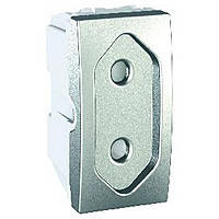 Розетка плоская Schneider Electric Unica Алюминий (MGU3.031.30)