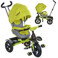 Велосипед  три кол.рез (12/10 )колясоч .поворот,фиксир.пед,рем.безоп.,торм.звон