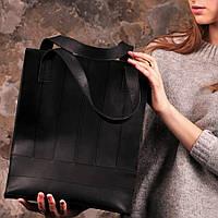 "Модная кожаная сумка-шоппер ""Бэтси"" BlankNote BN-BAG-10-g графит"