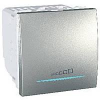Светорегулятор нажимной универсальный 350ВА Schneider Electric Unica Алюминий (MGU3.515.30)